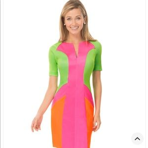 Mod Jersey Colorblock Dress